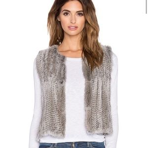 Real Natural Rabbit Fur Vest in Grey 525 america